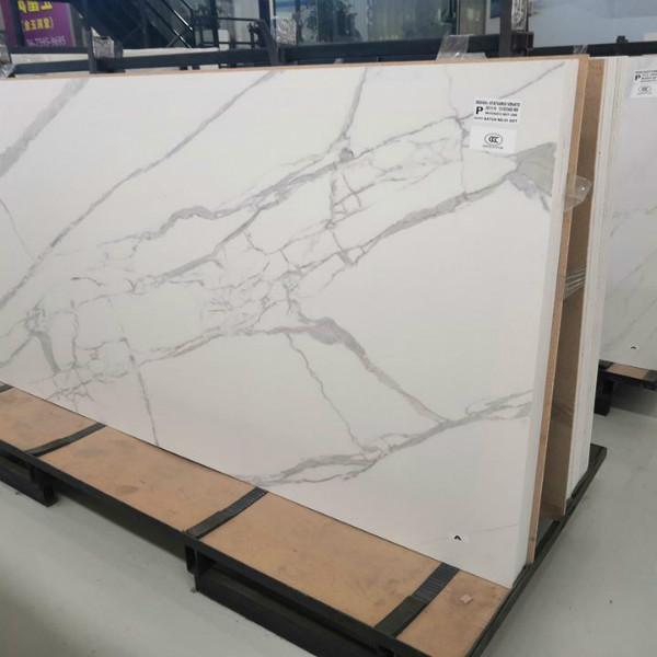 Sintered stone calacatta white