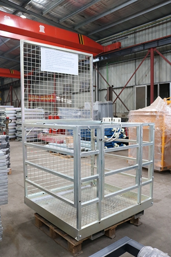 Collapsible Safety Cage work platform