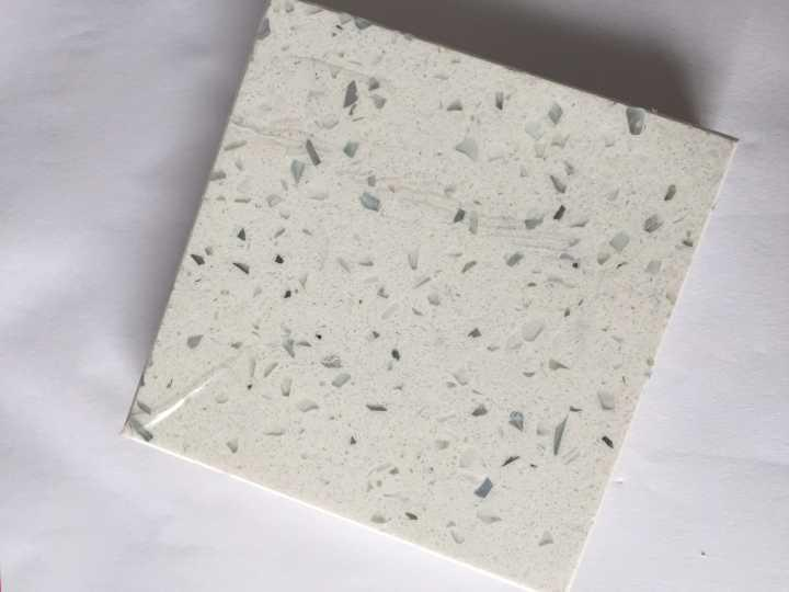 Diamond white quartz stone