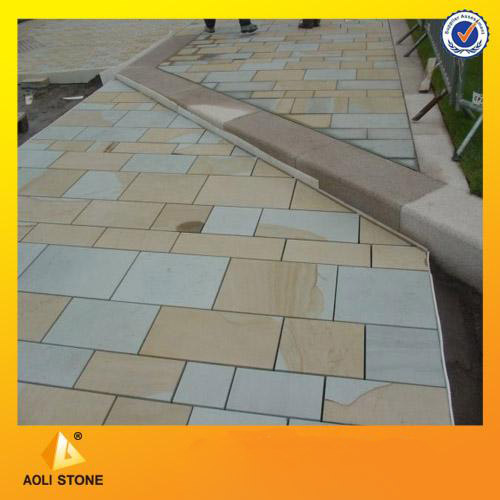 Double color sandstone tiles for floor and wall panel