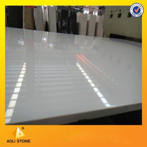 China Snow White Artificial Marble Slabs
