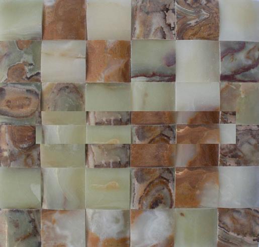 3D green onyx marble mosaic