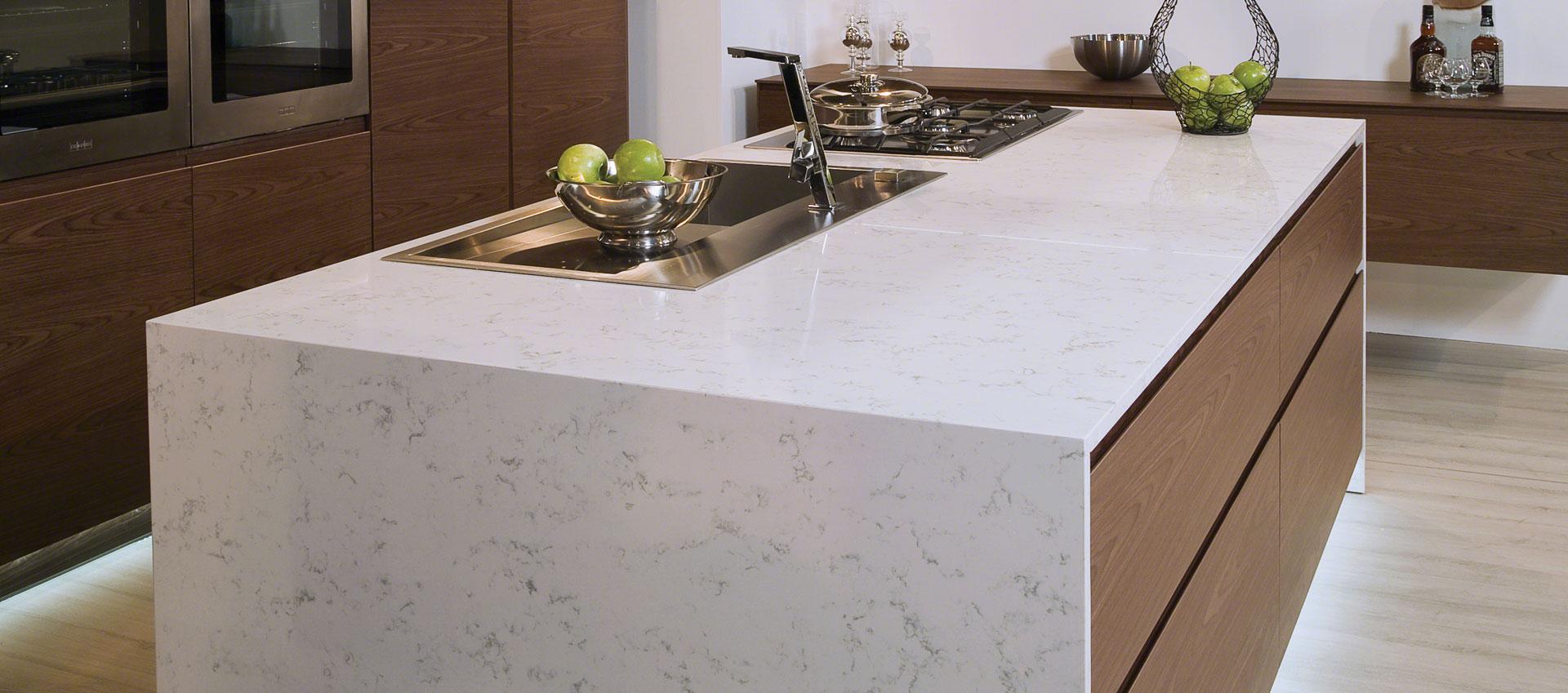 Carrara White Quartz Countertops Kitchen Countertops