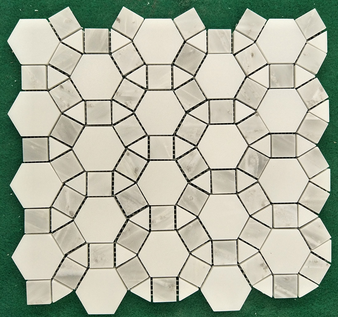 Customize Beauty White Marble Mosaic Tiles