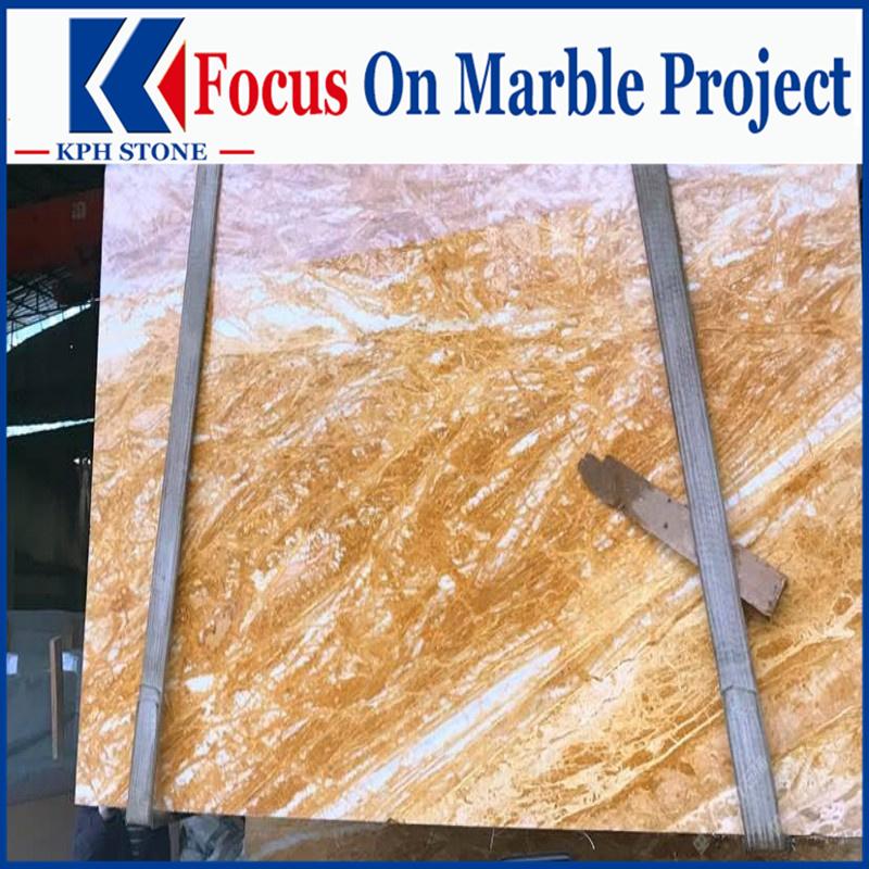 Dubai Golden Marble Slabs for the Grandview at Las Vegas