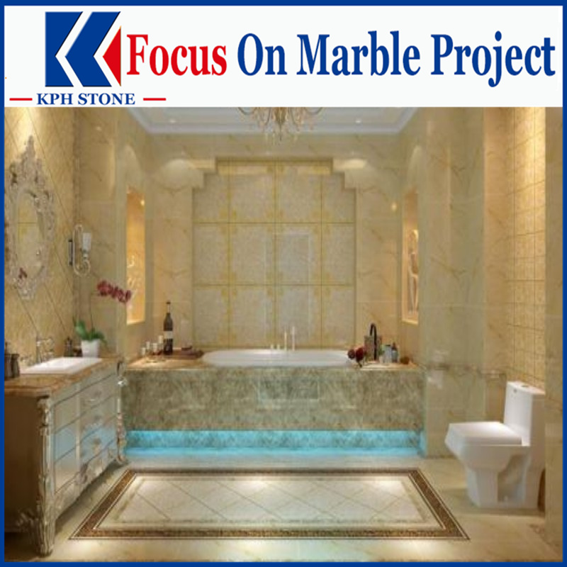 Golden Phoenix bathroom marble floor designs