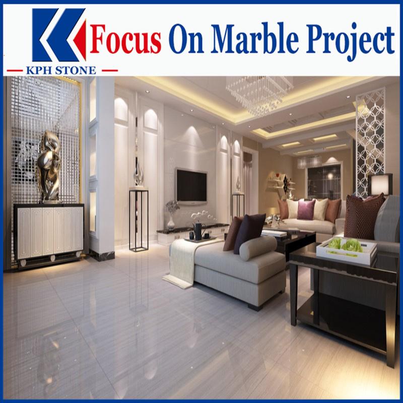 White Wood Grain Marble Tiles for The Fullerton Hotel Singapore