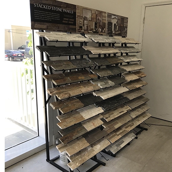 The latest wooden floor tile display sample rack