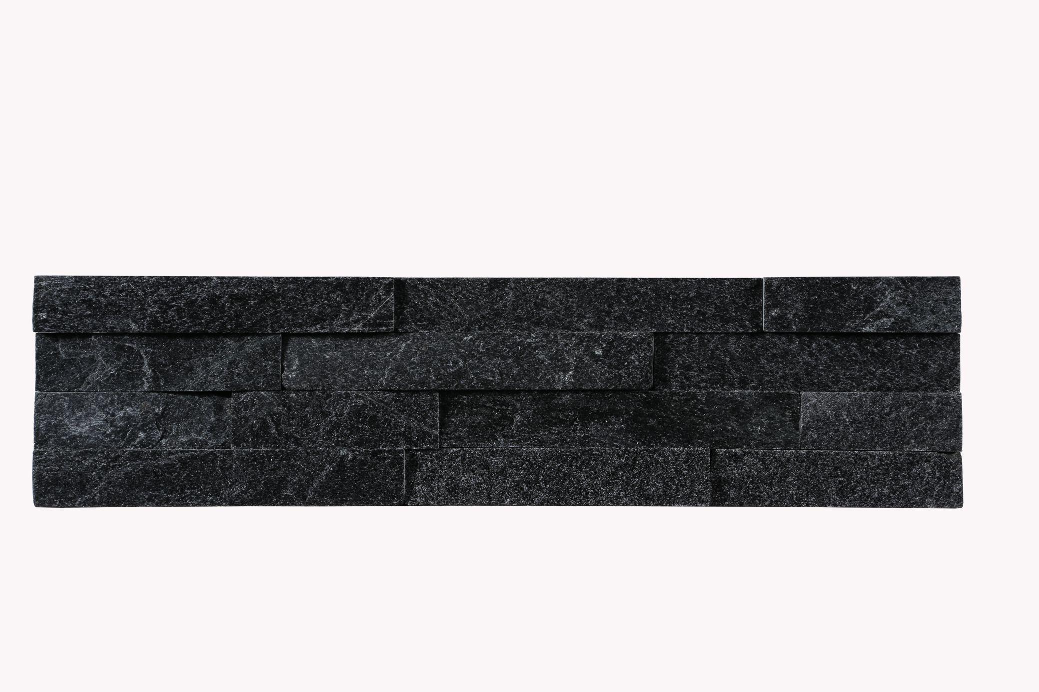 Black quartz culture stone panel