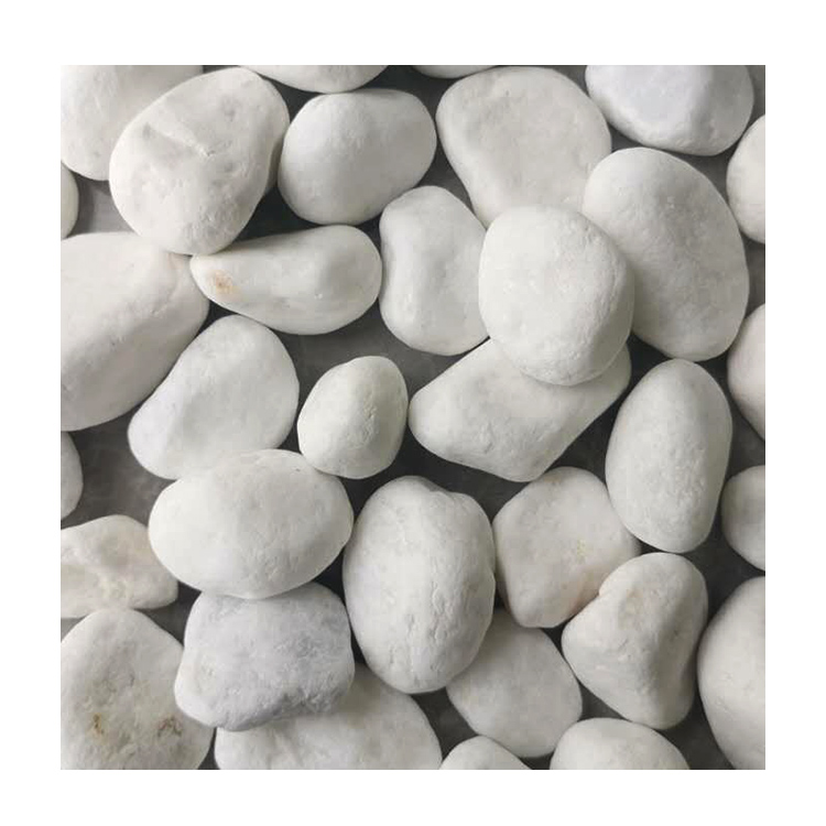 Hot Sale Dl-001 Snow White Pebble Ball Stone