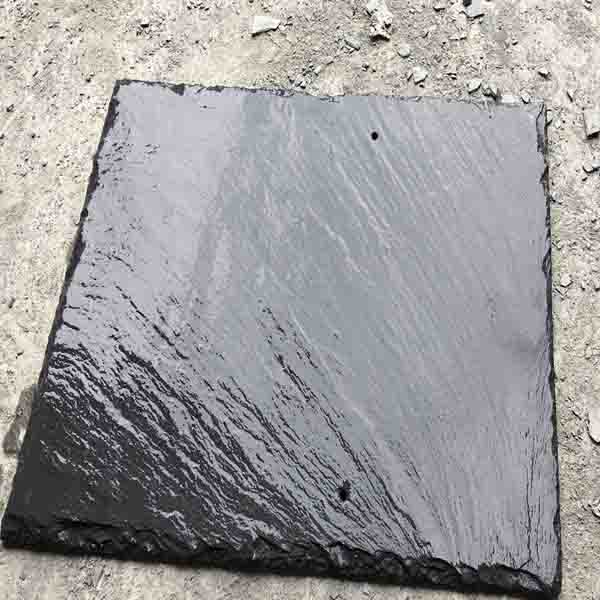 Customized Gray & Black Color Anti-Static Natural Slate Roofing Tile