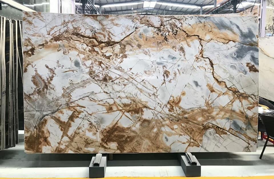 Rome impression stone slab