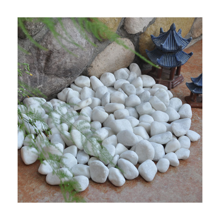 Natural Hot Sale Gs-001 White Pebble Ball Stone