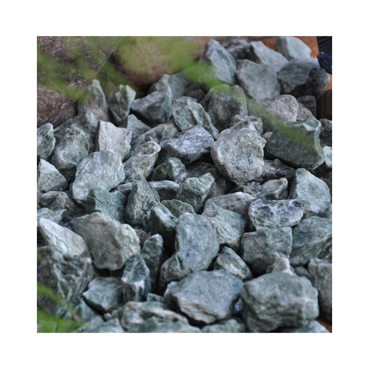 Natural Good Quality Gs-006 Green Gravel Stone
