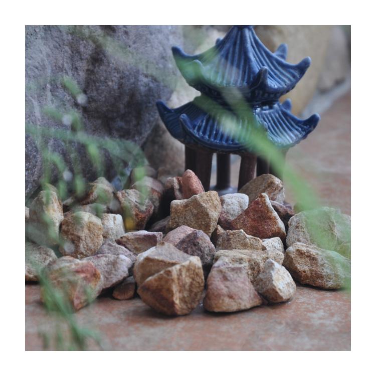 Gs-022 Yellow Wood Pebble Gravel Stone