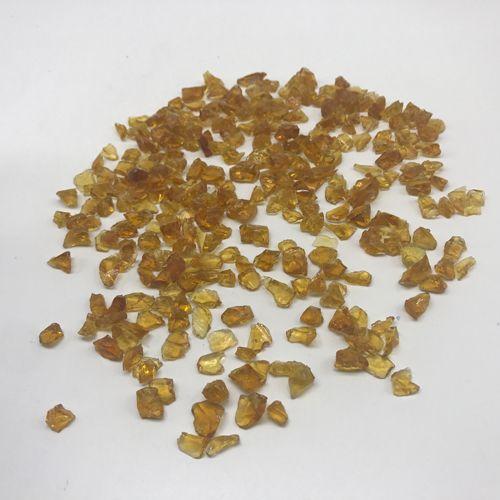 glass lumps and glass sand light yellow