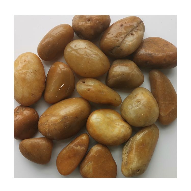 Hot Sale Nj-005 Yellow Pebble Polished Ball Stone