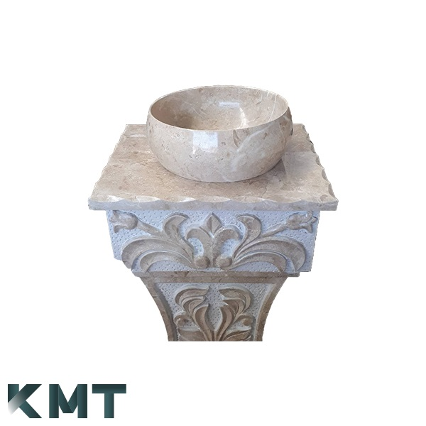 Pedestal Sink  Stone Basin S-15004
