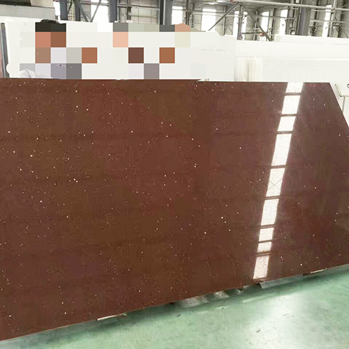Star brown color artificial quartz stone China