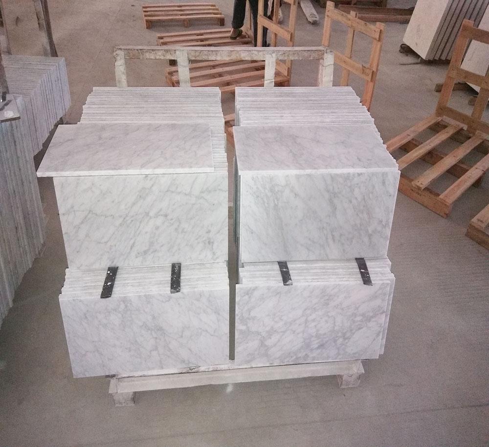 Italy Carrara White Tile Marble