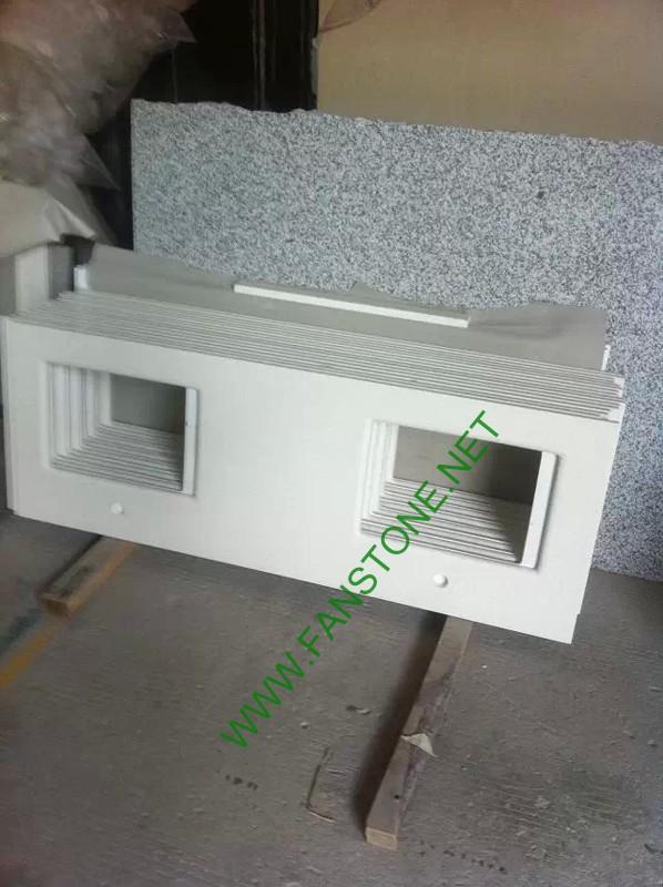 Artificial stone White quartz vanity top