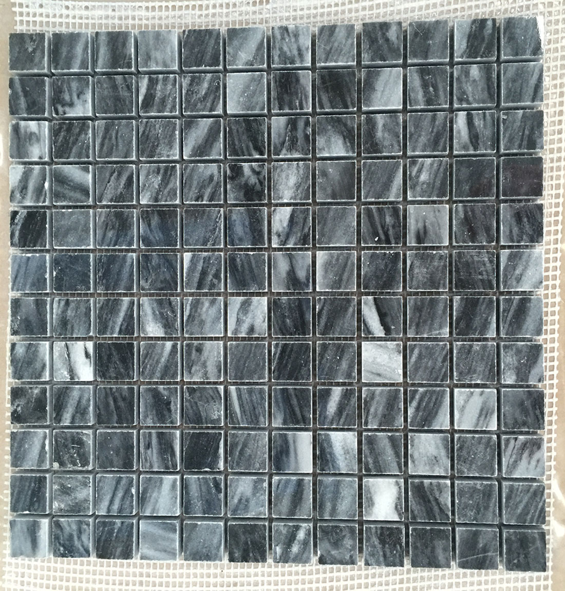Polished marble mosaics square tiles
