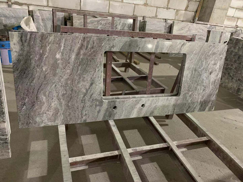 Viscount White Granite Kitchen Countertops