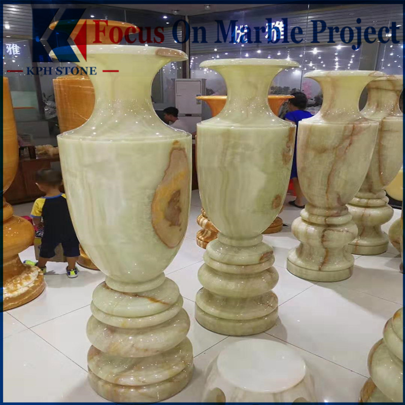 Onyx Vases Flower Pot from Pakistan