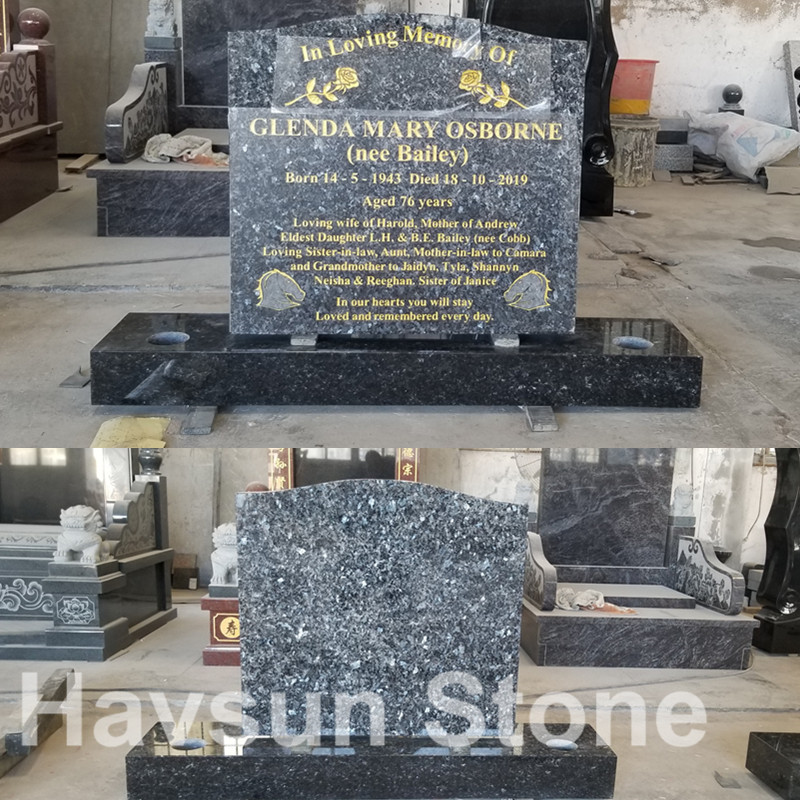 Cheap Blue HeadstoneTombstone for Australia