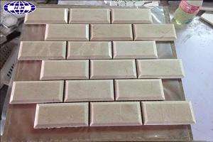 Beige Brick Marble Mosaic Tiles