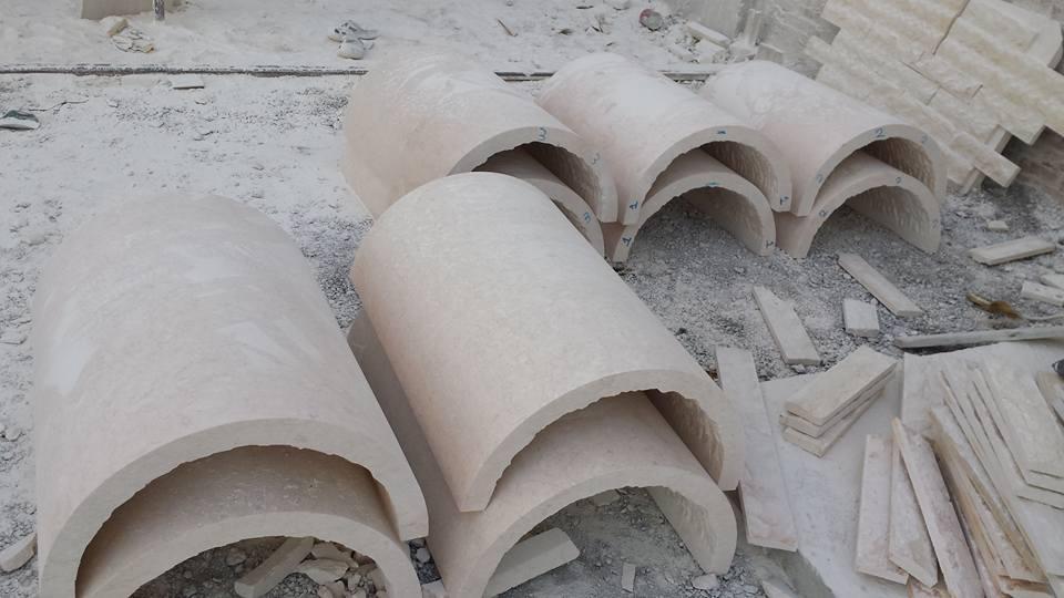 Beige Limestone Coulmn