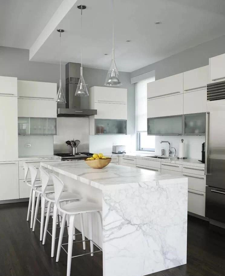 Diamond White Marble Island Tops Countertops