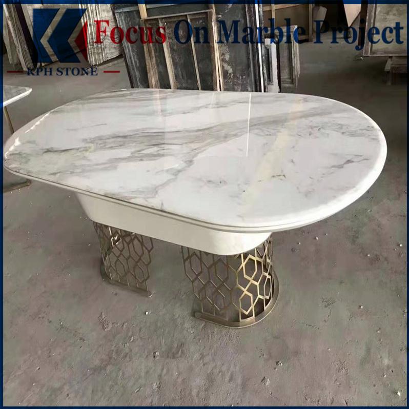 White carrara marble table tops