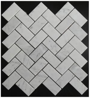 White Carrara Marble Mosaics