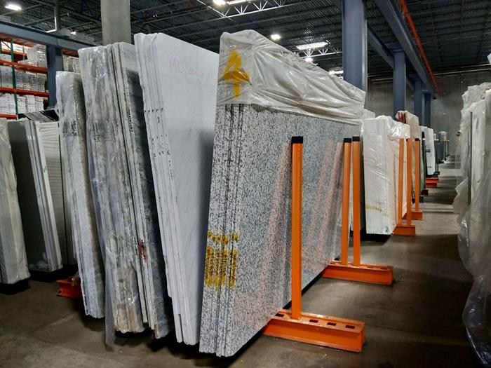 Showroom warehouse Granite Stone slab rack