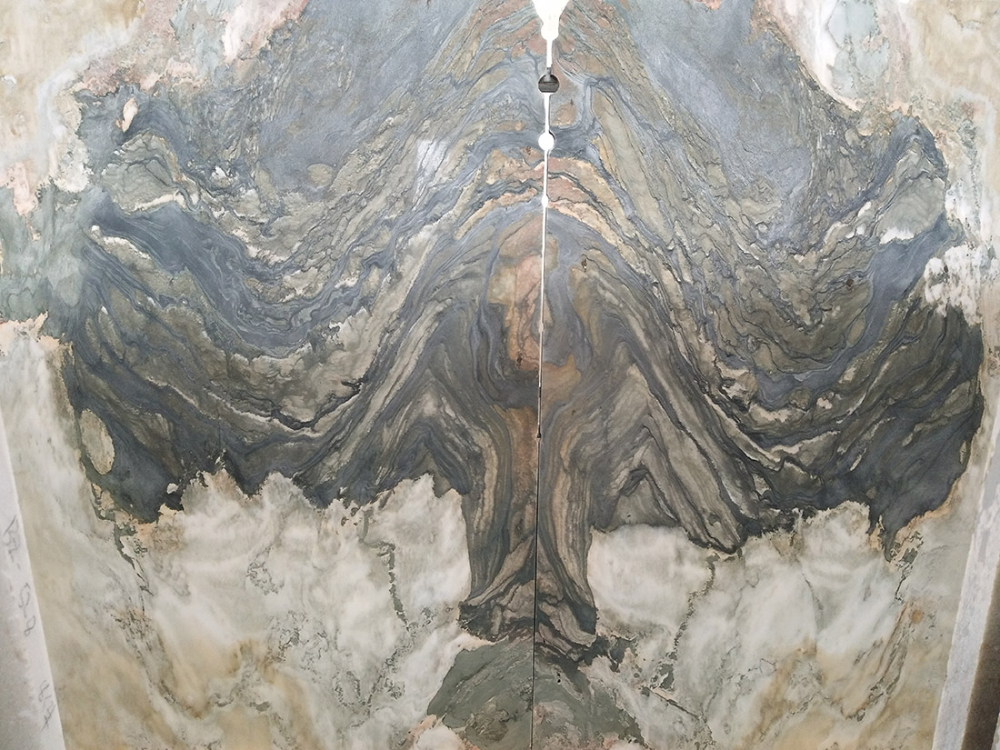 Beautiful landscape painting white marble slabs for background wall