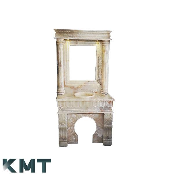 Green Onyx Pedestal Sink  Stone Basin S-15012
