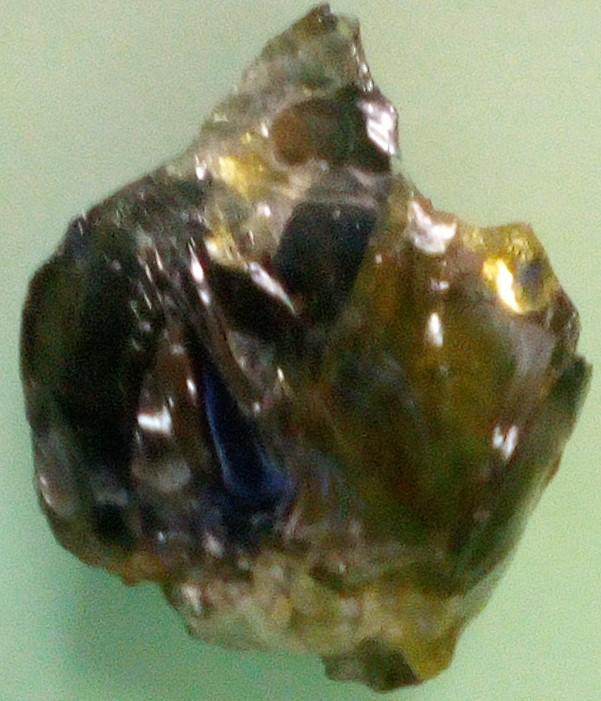 Quartz clear glass brownish