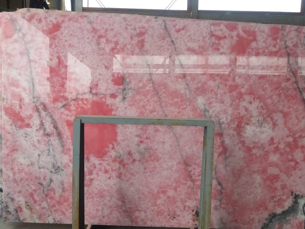 Pink Onyx Iranian Pink Polished Onyx Slabs