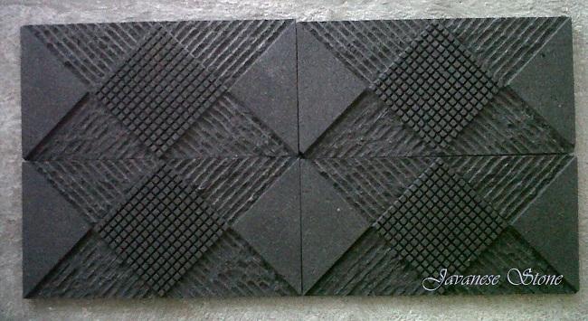 Square Motif Lava Stone