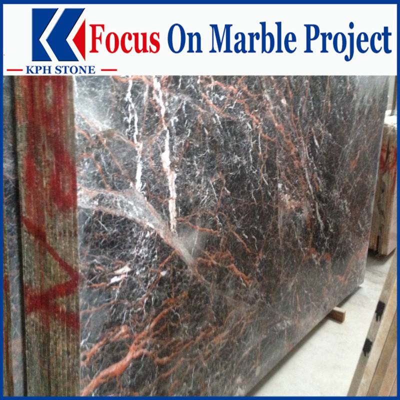 Azalea Cuckoo Red Marble Slabs for Tropicana Casino and Resort