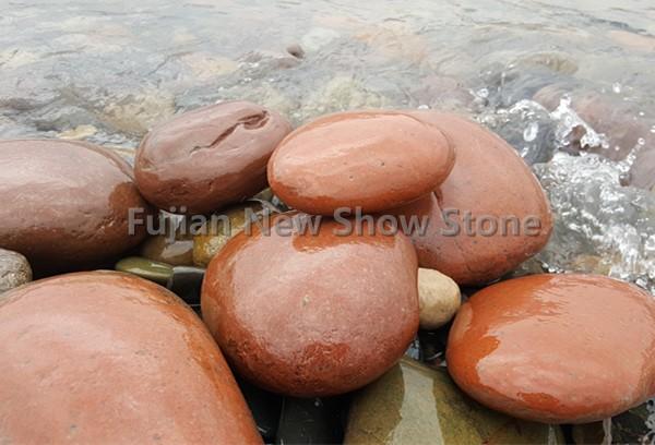 Jumbo red cobble stone