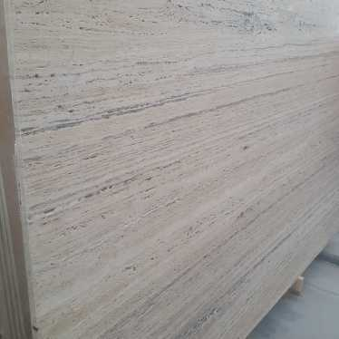 White Silver Travertine Slabs