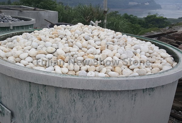 Ns024 white pebble stone