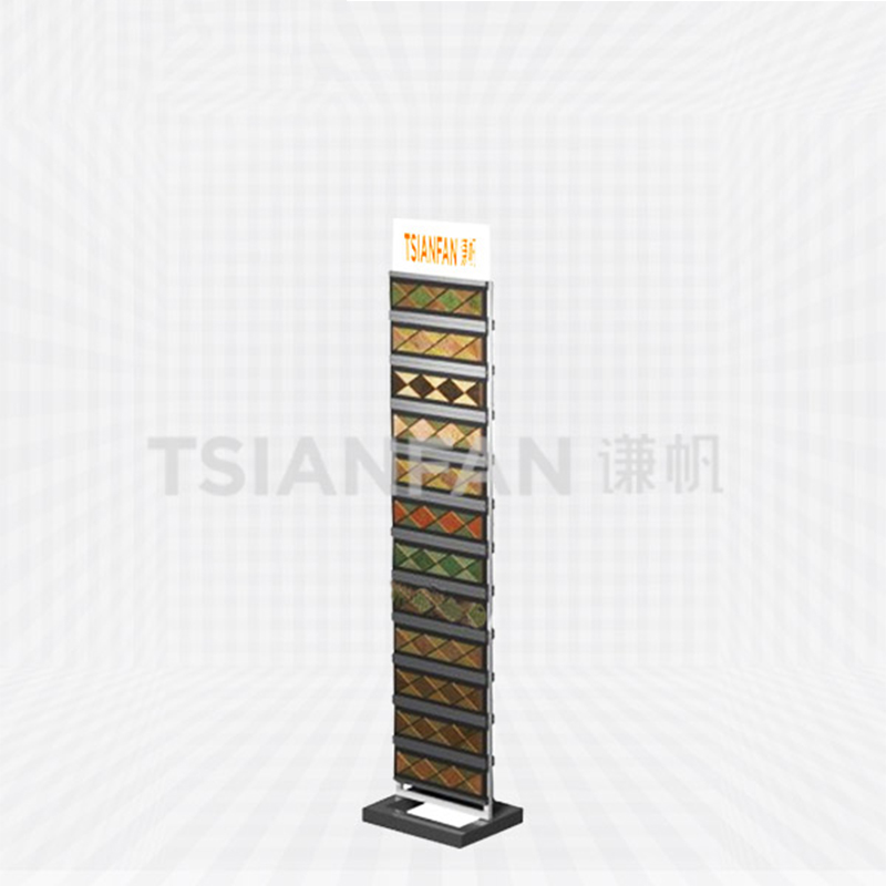 Marble Cultural Stone Floor Display Stand