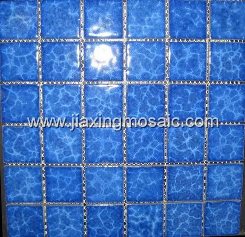 Blue color ceramic swimming pool mosaic