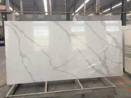 Calacatta white quartz slabs for countertops