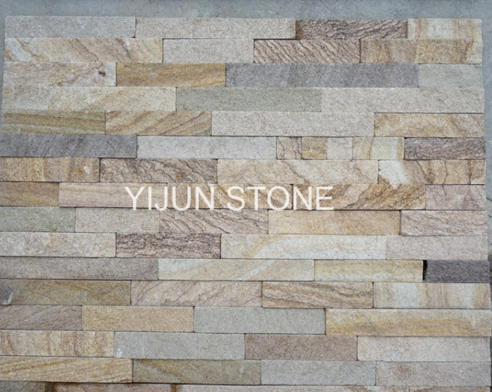 Sandstone Cultured Stone Ledge Brown Color Natural Surface for Indoor and Outdoor Hebei China
