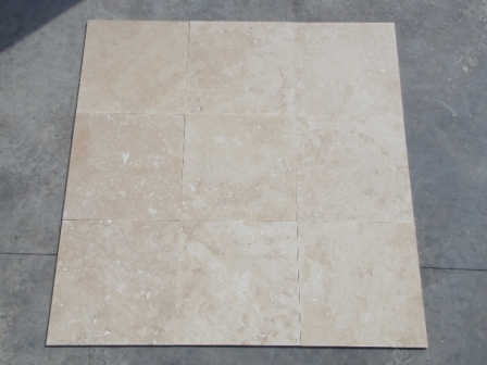 Travertine Tile Ivory Std Light hf