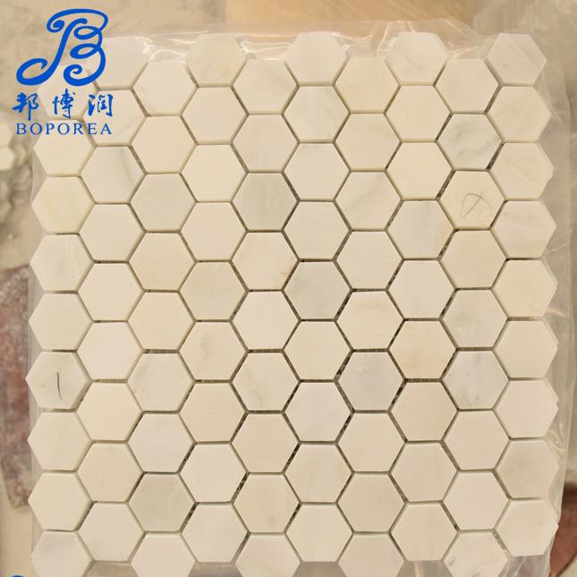 Mosaic Good price portugal cappuccino marble floor tilesin kerala for garden